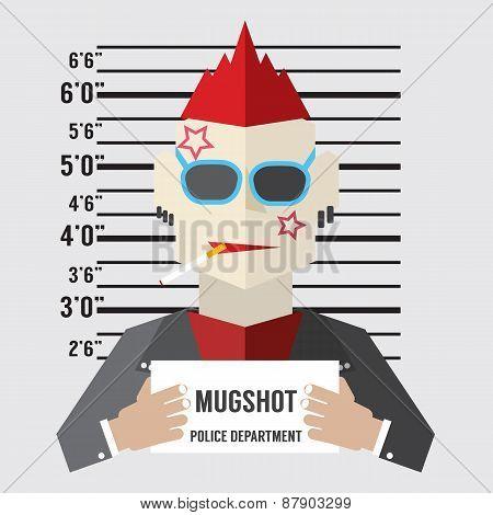 Mugshot Of Gangster.