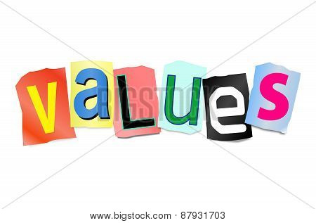 Values Concept.