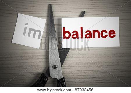 Cut Balance From Imbalance