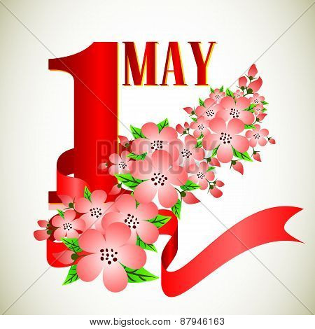 Postcard For Holiday Of Spring And Labor. Mayday