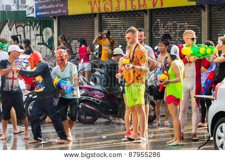 Songkran Festival in Chiangmai,Thailand