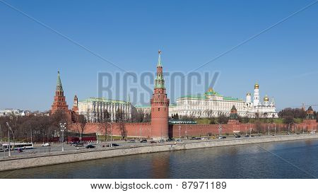 Moscow Kremlin In The Spring