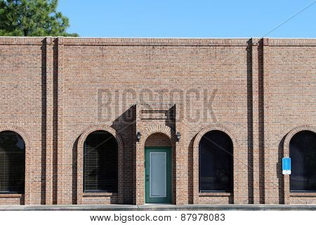 Generic small brick office exterior