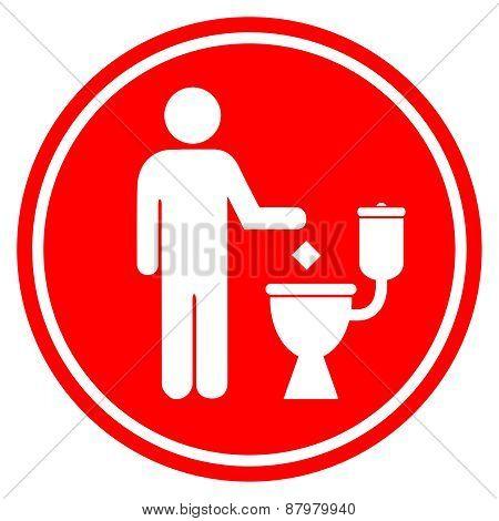 Do not litter in toilet