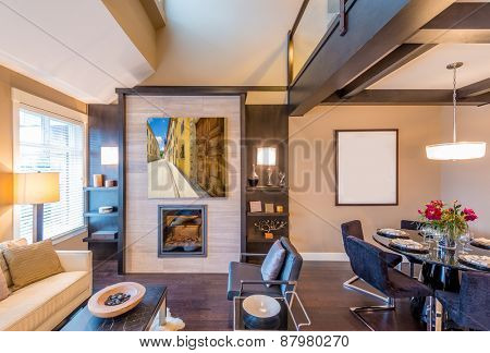 Interior design of a luxury living room
