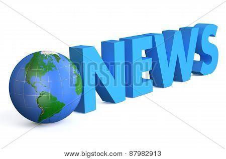 World news symbol isolated on white background poster