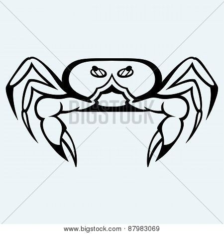 Silhouette crab