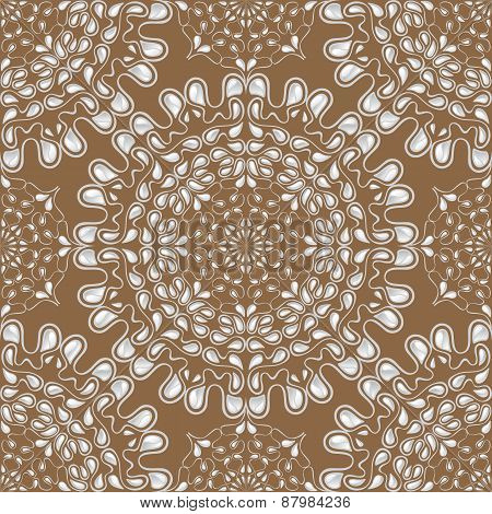 White water drops on brown background. Vector.