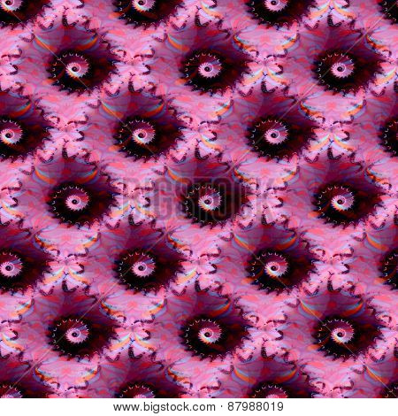 Abstract fractal spiral pink black pattern