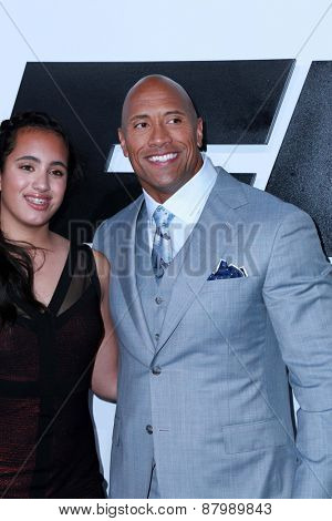 LOS ANGELES - FEB 1:  Dwayne Johnson at the