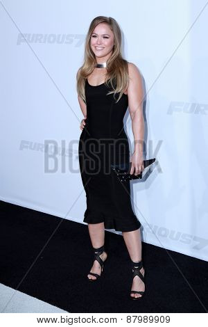LOS ANGELES - FEB 1:  Ronda Rousey at the