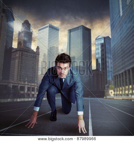 Ready businessman
