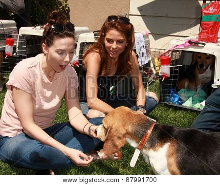 LOS ANGELES - FEB 14:  Whitney Cummings, Maria Menounos at the The Beagle Freedom Project at the Private Location on April 14, 2015 in Valley Village, CA