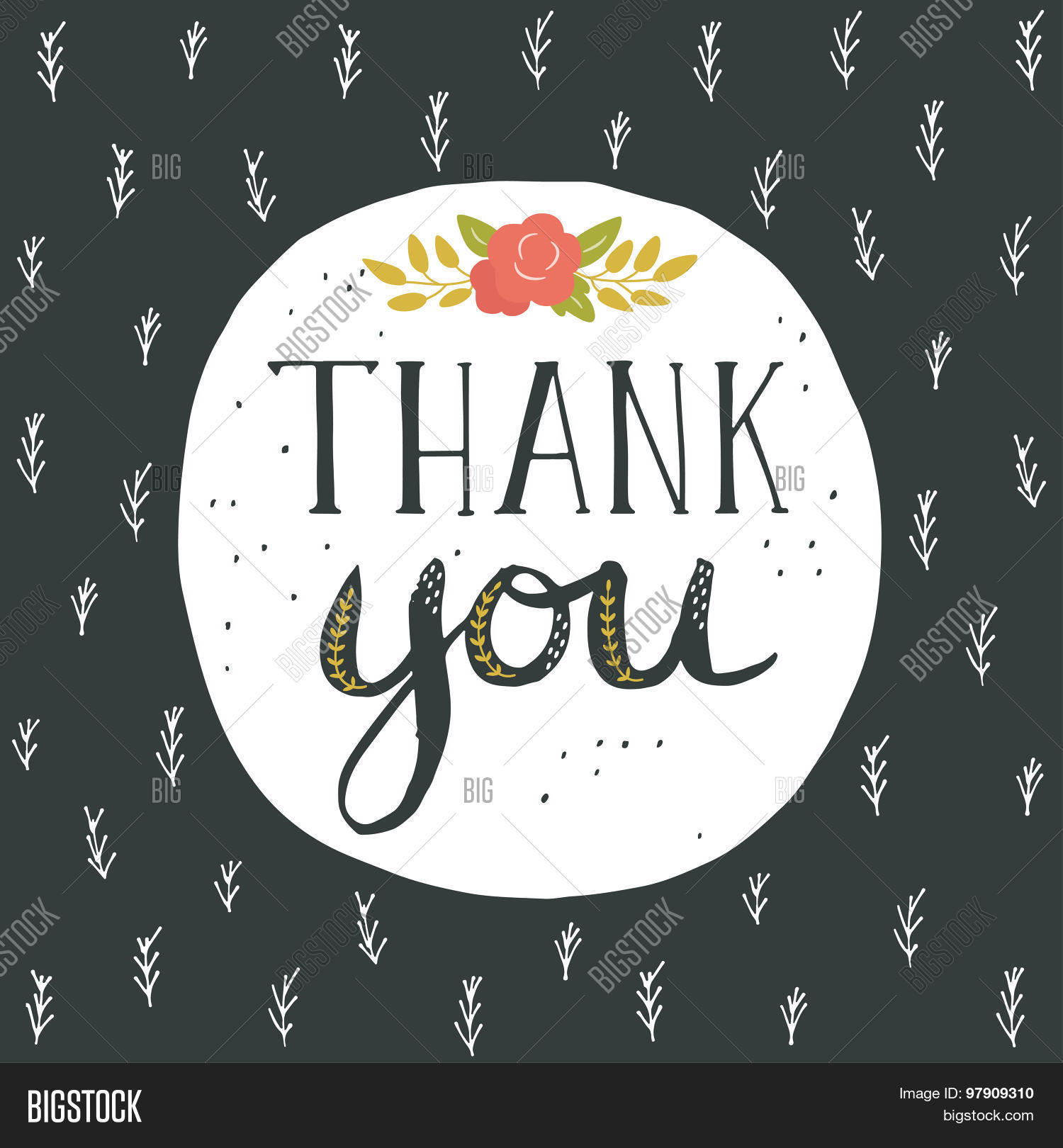 Thank You Greeting Vector Photo Free Trial Bigstock
