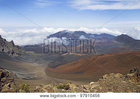 Haleakala Volcano Or  East Maui Volcano. Maui, Hawaii
