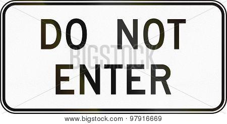 Do Not Enter In Canada