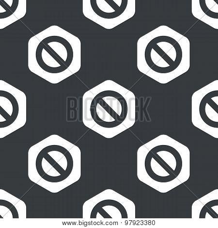 Black hexagon NO sign pattern