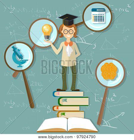 Education Background, Teacher, Professor, Back To School, Power Knowledge, Open Book, Brain