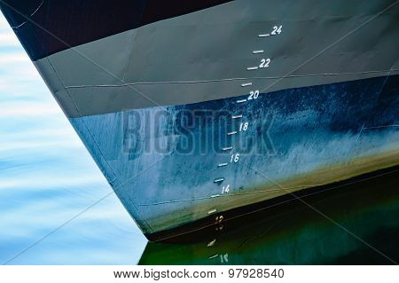 Depth Markers On Ship