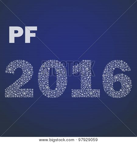 Happy New Year Pf 2016 From Little Snowflakes Eps10