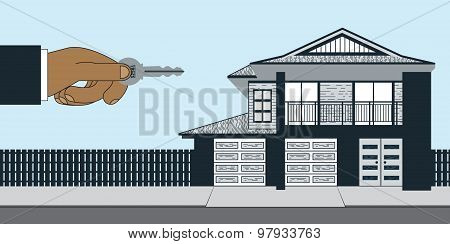Real Estate Agent House For Sale With Key