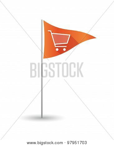 Golf Flag With A Shopping Cart