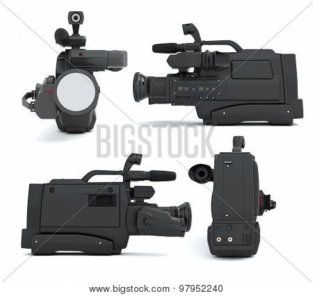Set Of Camcoder On A White
