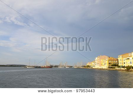 Overview Of City Of Port Leucate, France