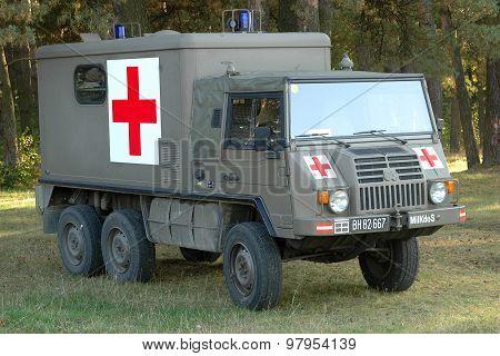 A military ambulance
