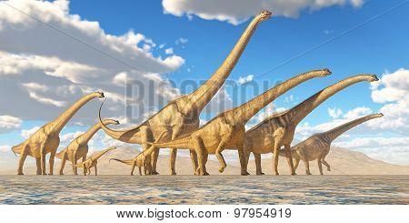 Sauroposeidon Herd Traveling