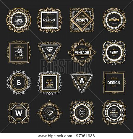 Monogram  luxury logo   template