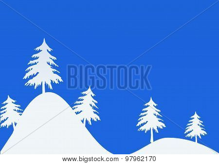 Background With Uncluttered Winter Landscape