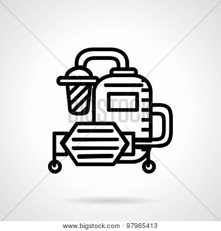 Water system flat line vector icon