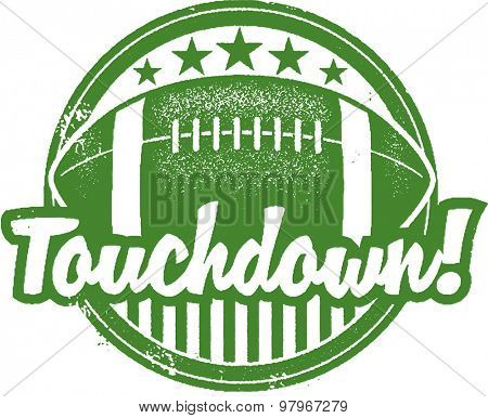 American Football Touchdown Stamp