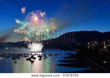 Fireworks Display At English Bay