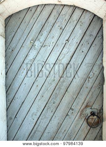 The Door Of The Wooden Planks