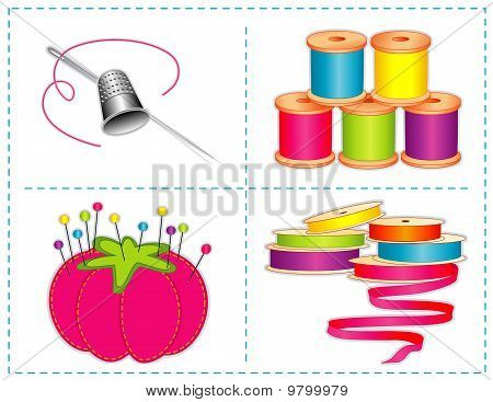 Sewing Accessories, Brights