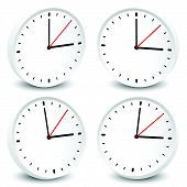 Clock vector icon for time appointment accuracy concepts. poster