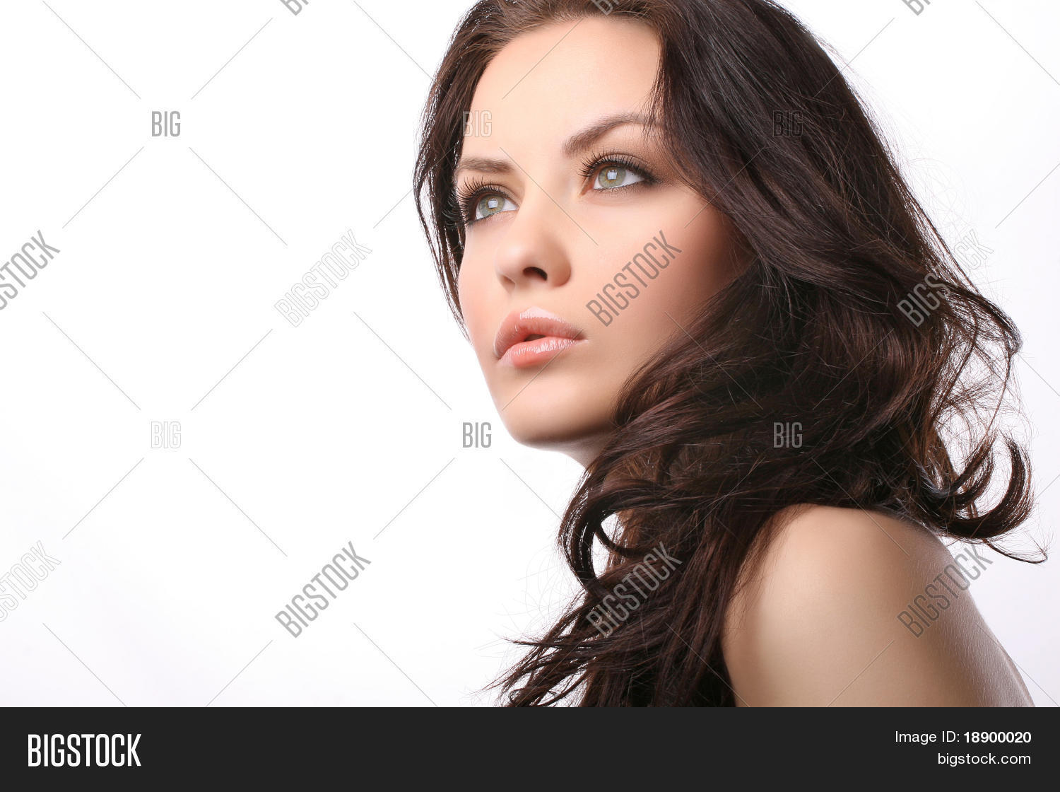 woman looking away