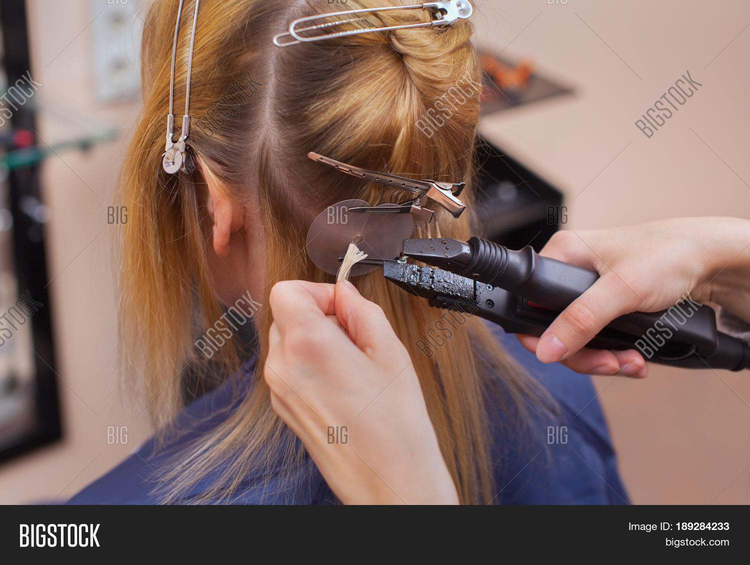 Hairdresser Does Hair Image Photo Free Trial Bigstock