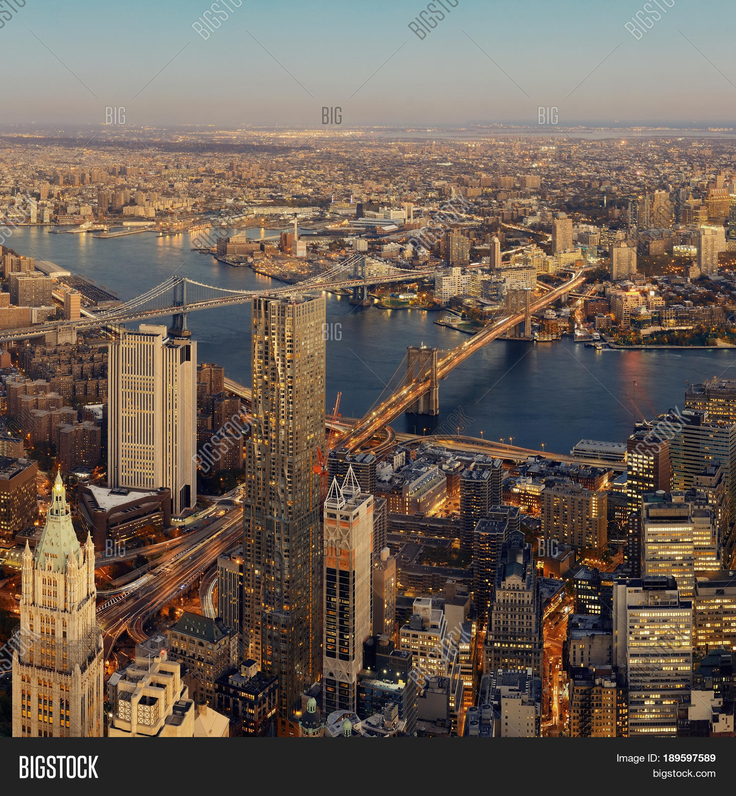 Manhattan Downtown Image Photo Free Trial Bigstock
