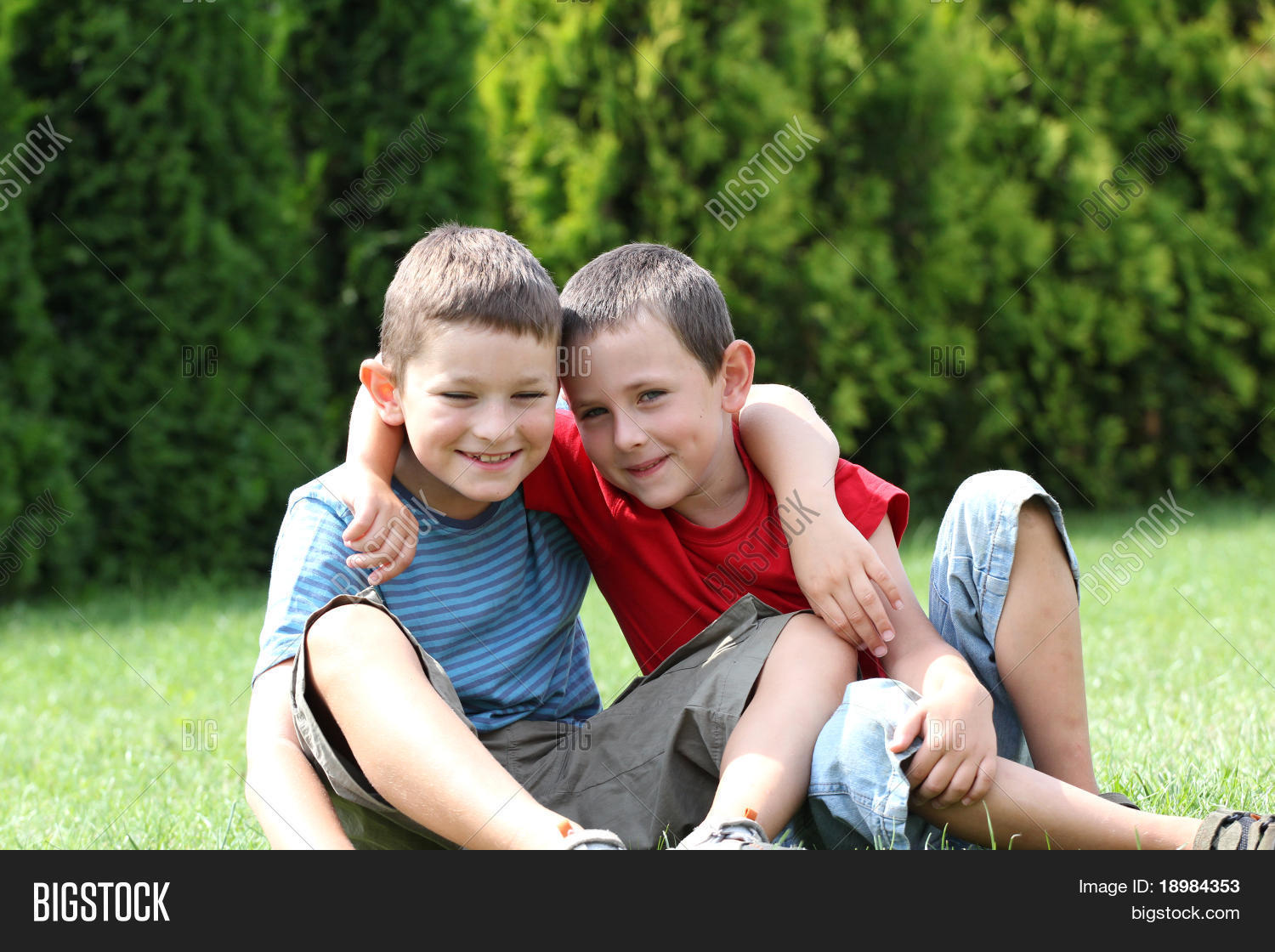 Portrait Two Boys, Image & Photo (Free Trial) | Bigstock
