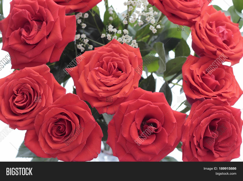 Bouquet Pretty Red Image Photo Free Trial Bigstock