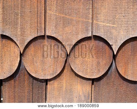Wooden Cedar Shingles Outside Wall Siding Pattern