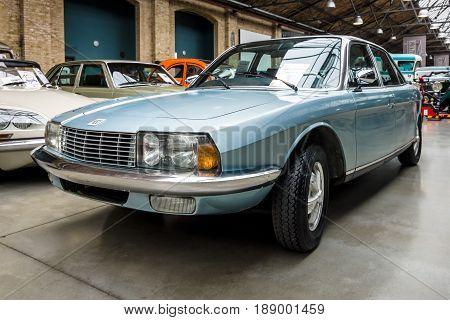 BERLIN - MAY 13 2017: Executive car NSU Ro 80 1967. Exhibition