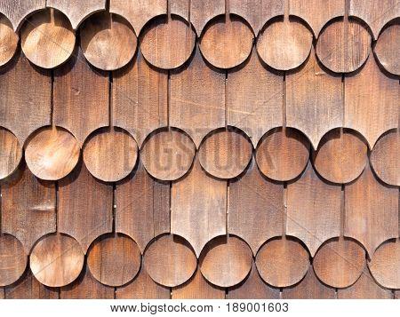 Cedar Shingles Outside Wall Wooden Siding Pattern