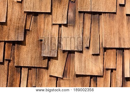 Unregular Pattern Of Western Red Cedar Shingles