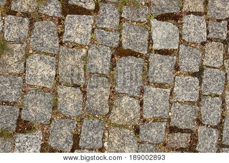 Pavement - background/ This is pathway made of cobble stones.