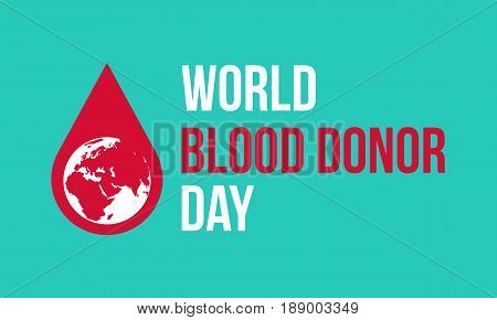 Background of world blood donor day collection stock vector art