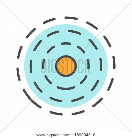 Influence symbol color icon. Isolated vector illustration